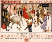 Vintage London underground poster - Wood Lane